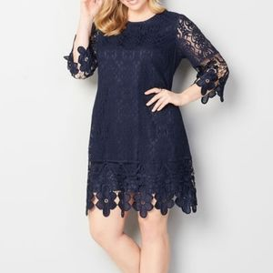 Pretty Floral Lace Sheath Dress